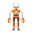 metal humanoid robot with antennae vector image vector image