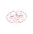 netherlands visa stamp amsterdam border control vector image vector image