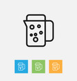 of meal symbol on thermos vector image