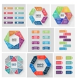 paper triangle stickers and labels with vector image vector image
