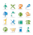 petrol station and travel icons vector image vector image