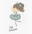 prima ballerina surface design for kids vector image vector image
