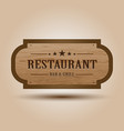 realistic wooden signboard vector image