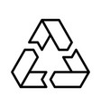 recycling symbol environmental or ecological vector image vector image