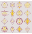 Retro Design Luxury Insignias Logotypes Template vector image vector image