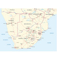 road map southern africa vector image vector image