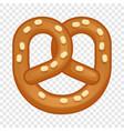 salt pretzel icon cartoon style vector image vector image
