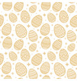 seamless pattern of yellow easter egg flat vector image