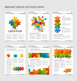 set of modern brochure flyer design templates vector image
