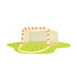 soccer goal cartoon vector image
