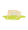 soccer goal cartoon vector image vector image