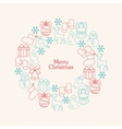 Stock christmas wreath with decorative vector image vector image