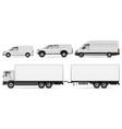 trucks and vans vector image vector image