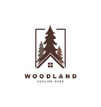 wood with rohouse logo design vector image