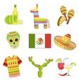 Mexican National Symbols Set vector image