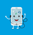cute smiling happy mobile phone vector image