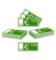 Euro set vector image