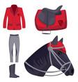 jockey horse hippodrome champion animal vector image