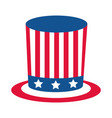 4th july independence day top hat vector image