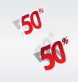 50 sale percents label vector image