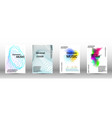 a set of modern abstract covers vector image vector image