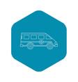 ambulance emergency paramedic car icon vector image vector image