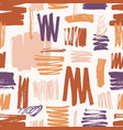 artistic seamless pattern with rough paint traces vector image vector image
