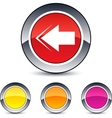 back arrow round button vector image vector image