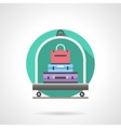 Baggage cart detailed flat color icon vector image vector image
