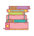 book day textbook stacked different literature vector image vector image