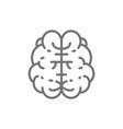 brain mind intelligence human organ line icon vector image vector image