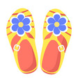 bright comfortable slippers isolated vector image vector image