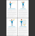 business strategy and success working people vector image vector image