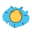 Cartoon doodle sun vector image vector image