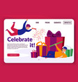 celebrate it landing page vector image vector image