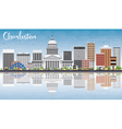 Charleston Skyline with Gray Buildings vector image vector image