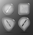 Chisel Glass buttons vector image vector image