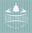 christmas card color green vector image vector image