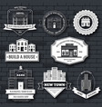 city buildings label template of emblem element vector image