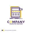 company name logo design for internet page web vector image vector image