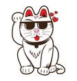 cool maneki neko cat vector image