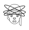 crazy woman cartoon vector image vector image