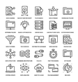 Data Management Icons vector image vector image