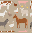 different home farm animals and birds like vector image vector image