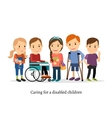 Disabled or handicapped children with friends vector image vector image