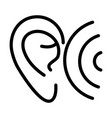 ear wave audio sound line style icon vector image