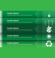 eco infographic labels designgreen vector image vector image