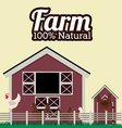 Farm design over beige background vector image
