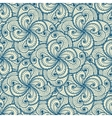 Floral beautiful blue seamless pattern vector image vector image