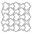 Four piece puzzle vector image